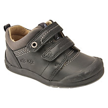 Buy Start-rite Beetlebug Rip-Tape Shoes, Black Online at johnlewis.com