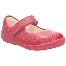 Buy Clarks Softly Ida Leather Shoes, Berry Online at johnlewis.com
