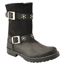 Buy Start-Rite Rebel Child Leather Boots, Black Online at johnlewis.com