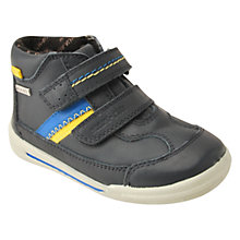 Buy Start-rite Waterproof Leather Boots, Navy Online at johnlewis.com