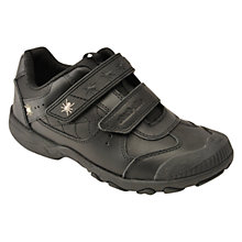 Buy Start-rite Tarantula Leather Casual Trainers, Black Online at johnlewis.com