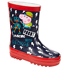 Buy John Lewis Robot George Wellington Boots, Multi Online at johnlewis.com