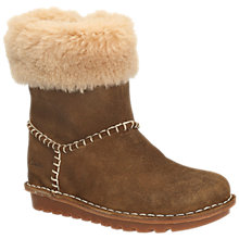 Buy Clarks Greeta Ace Suede Ankle Boots, Walnut Online at johnlewis.com