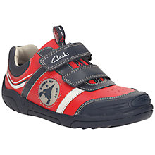Buy Clarks Wing Time Leather Shoes, Red Online at johnlewis.com