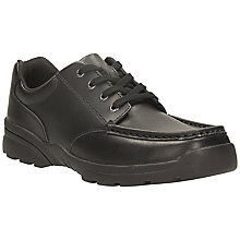 Buy Clarks Bermon Leather School Shoes, Black Online at johnlewis.com