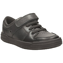 Buy Clarks Chad Skater Leather Shoe, Black Online at johnlewis.com
