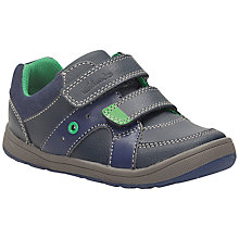 Buy Clarks Maltby Pop Leather Shoes, Navy Online at johnlewis.com