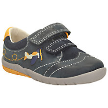 Buy Clarks Soft Liam Leather Shoes, Navy Online at johnlewis.com