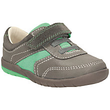 Buy Clarks Soft Lee Leather Shoes, Grey/Mint Online at johnlewis.com