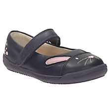 Buy Clarks Iva Bunny Mary Jane Shoes, Navy Online at johnlewis.com