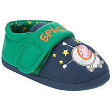 Buy George Pig Space Hero Slippers, Blue/Green Online at johnlewis.com