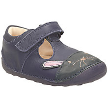 Buy Clarks Little Bunny Leather T Bar Shoes, Navy Online at johnlewis.com
