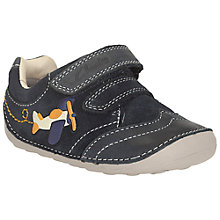 Buy Clarks Tiny Liam Suede Shoes, Navy Online at johnlewis.com