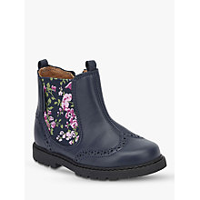 Buy Start-Rite Floral Leather Chelsea Boots, Navy Online at johnlewis.com