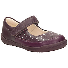 Buy Clarks Softly Ida Leather Shoes, Purple Online at johnlewis.com