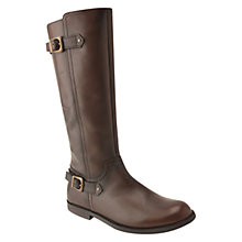 Buy Start-rite Tweed Panel Leather Boots, Chocolate Online at johnlewis.com