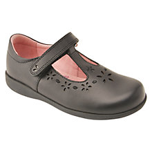 Buy Start-rite Charlotte Leather Shoes, Black Online at johnlewis.com