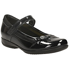Buy Clarks Daisy Beth Patent Leather Mary Jane Shoes, Black Online at johnlewis.com