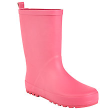 Buy John Lewis Children's Wellington Boots, Matt Pink Online at johnlewis.com