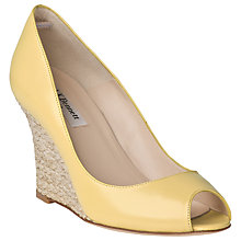 Buy L.K. Bennett Estela Nappa Leather Peep Toe Wedges, Citrus Online at johnlewis.com