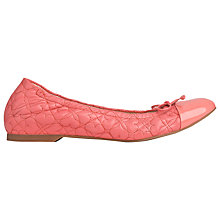 Buy L.K. Bennett Cheri Nappa Leather Ballerina Pumps, Popsicle Online at johnlewis.com