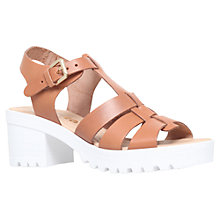 Buy Miss KG Pia Leather Cleated Sole Block Heel Sandals Online at johnlewis.com