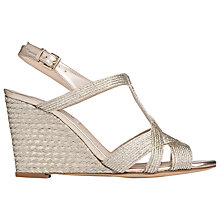 Buy L.K. Bennett Clarissa Rope Wedge Heeled Sandals Online at johnlewis.com