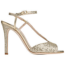 Buy L.K. Bennett Val Slim Strap Stiletto Sandals, Platinum Online at johnlewis.com