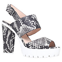 Buy Miss KG Python High Heel Cleated Sole Sandals, Grey Mixed Online at johnlewis.com