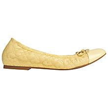 Buy L.K. Bennett Cheri Nappa Leather Ballerina Pumps, Citrus Online at johnlewis.com