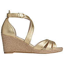 Buy L.K. Bennett Priya Grained Leather Espadrille Wedge Sandals Online at johnlewis.com
