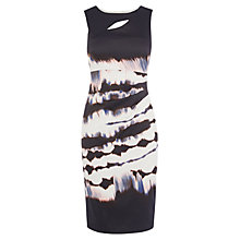 Buy Karen Millen Tie Dye Stripe Dress, Black/White Online at johnlewis.com