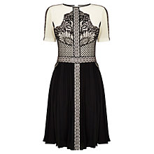 Buy Karen Millen Placed Lace Dress, Black Multi Online at johnlewis.com