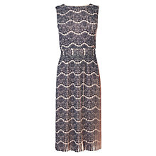 Buy Karen Millen Printed Pleat Dress, Pale Pink Online at johnlewis.com