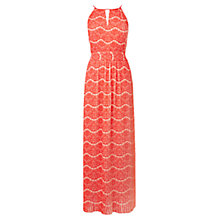 Buy Karen Millen Pleated Maxi Dress, Pale Pink Online at johnlewis.com