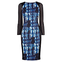 Buy Karen Millen Graphic Print Dress, Blue/Multi Online at johnlewis.com