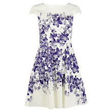 Buy Karen Millen Floral Cotton Blend Dress, Blue / Multi Online at johnlewis.com