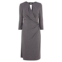 Buy Karen Millen Draped Crepe Jersey Dress, Grey Online at johnlewis.com