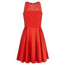 Buy Karen Millen Lace Prom Dress, Red Online at johnlewis.com
