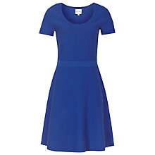 Buy Reiss Hallie Ribbed Fit And Flare Dress Online at johnlewis.com