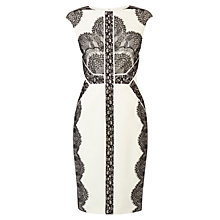 Buy Karen Millen Placed Lace Dress, White/Multi Online at johnlewis.com