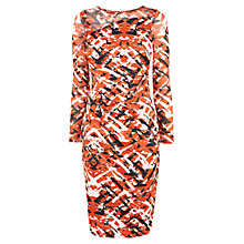 Buy Karen Millen Colourful Print Dress, Red/Multi Online at johnlewis.com