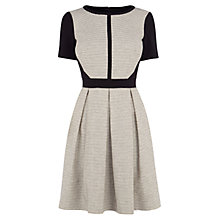 Buy Karen Millen Graphic Tweed Dress, Black/White Online at johnlewis.com