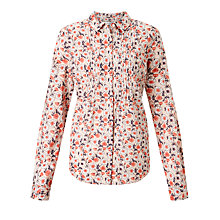 Buy John Lewis Morris Print Pintuck Shirt Online at johnlewis.com