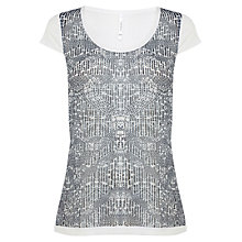 Buy Karen Millen Tribal Printed T-Shirt, Multi Online at johnlewis.com