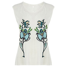 Buy Karen Millen Floral Print Vest Top, Multi Online at johnlewis.com
