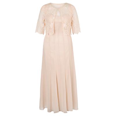 Product photo of Chesca chiffon panel dress and lace jacket set dress
