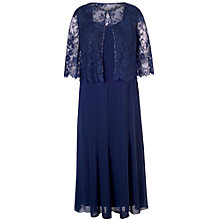 Buy Chesca Chiffon Panel Dress and Lace Jacket Set Dress Online at johnlewis.com