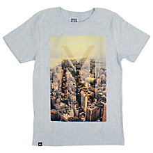 Buy Dedicated NYC Graphic Print T-Shirt, Grey Melange Online at johnlewis.com