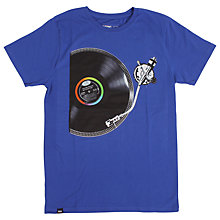 Buy Dedicated Turntable Printed T-Shirt, Blue Online at johnlewis.com